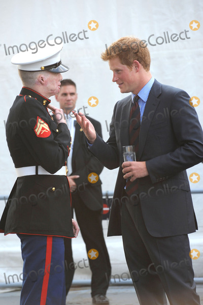 Aaron Mankin Photo - Prince Harry attends a reception on the USS Intrepid on June 25 2010 in New York City