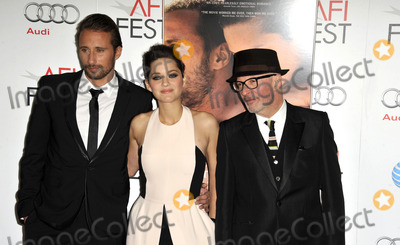 Jacques Audiard Photo - November 5 2012 LAMarion Cotillard(C) Matthias Schoenaerts and Jacques Audiard (R) arriving at the 2012 AFI FEST Rust And Bone Gala Premiere at Graumans Chinese Theatre on November 5 2012 in Hollywood California