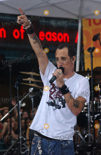 AJ MCLEAN Photo - NEW YORK NEW YORK JUNE 10TH 2005    The Backstreet Boys perform live in the pouring rain on the Today Show