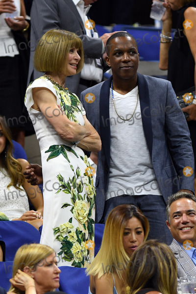 Anna Wintour Photo - August 29 2016 New York CityRecording artist Leslie Odom Jr chats with Anna Wintour at the opening ceremony on Day One of the 2016 US Open at the USTA Billie Jean King National Tennis Center on August 29 2016 in the Queens borough of New York CityBy Line SolarACE PicturesACE Pictures IncTel 6467670430