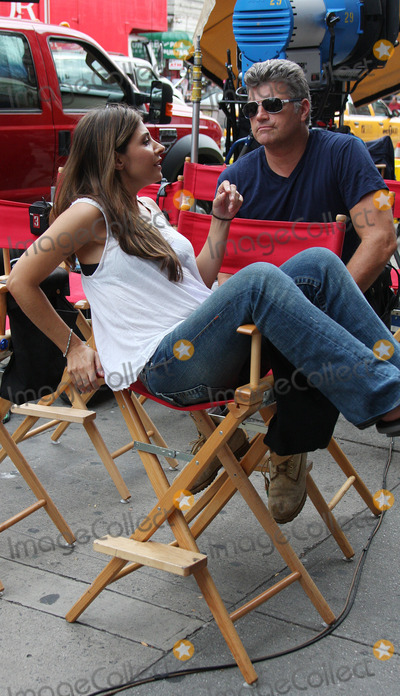 Callie Thorne Photo - Actress Callie Thorne on the set of the TV show Rescue Me on September 24 2009 in New York City