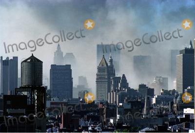 MANHATTAN SKYLINE Photo - Manhattan skyline after the World Trade Centre  Terrorist Attack in New York September 11 2001
