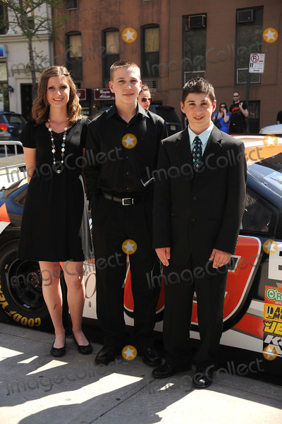 BRANDON WARREN Photo - L-R) Racer Annabeth Barnes racer Brandon Warren and  racer Joshua Hobson at the premiere of Racing Dreams during the 2009 Tribeca Film Festival at SVA Theater on April 25 2009 in New York City