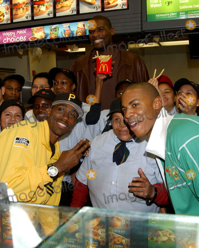 Al Shearer Photo - Shearer Mehcad Brooks and Jerome James from Disneys Glory Road at McDonalds on 8th Avenue honoring Martin Luther King