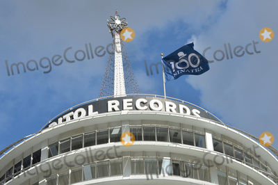 Frank Sinatra Photo - Flag on Capitol Records Building at the ceremony atop the Capitol Records Building in Hollywood to raise a 100th birthday flag in honor of singer Frank Sinatra who was born 100 years ago on 12th December Los Angeles December 11 2015 December 11 2015  Los Angeles CAPicture Paul Smith  Featureflash