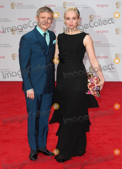Amanda Abbington Photo - Martin Freeman and wife Amanda Abbington arriving for the TV BAFTA Awards 2013 Royal Festival Hall London 12052013 Picture by Alexandra Glen  Featureflash