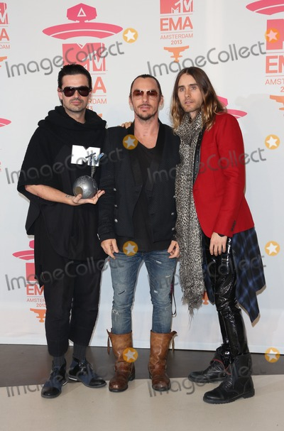 30 Seconds to Mars Photo - 30 Seconds To Mars in the press room at the MTV Europe Music Awards (EMAs) 2013 held at Ziggo Dome - Press Room Amsterdam Holland  101120013 Picture by Henry Harris  Featureflash