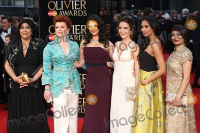 Natalie Dew Photo - Gurinder Chadha  Sophie-Louise Dann  Natalie Dew at the Olivier Awards 2016 held at the Royal Opera House London April 3 2016  London UKPicture James Smith  Featureflash