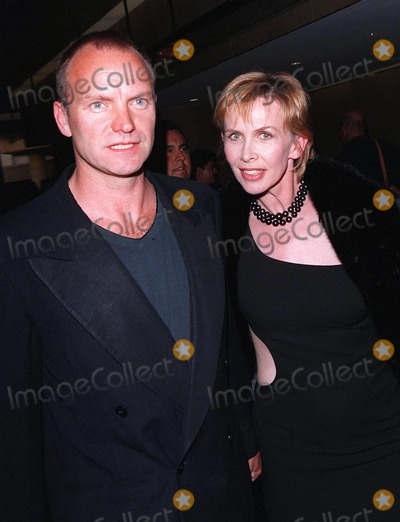 John Huston Photo - 17APR98  Pop star STING  wife TRUDIE STYLER at the Beverly Hilton Hotel where Tom Cruise was honored with the 1998 John Huston Award by the Artists Rights Foundation