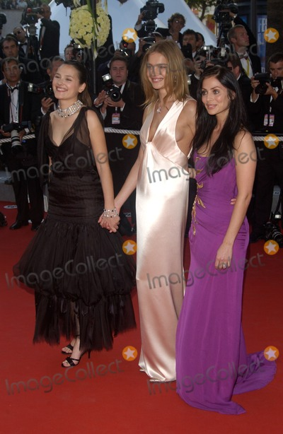 Natalie Vodianova Photo - NATALIE IMBRUGLIA (purple) NATALIE VODIANOVA (white)  VIRGINIE LEDOYEN at the official gala screening for Shrek 2 at the Cannes Film Festival where the movie is in competitionMay 15 2004