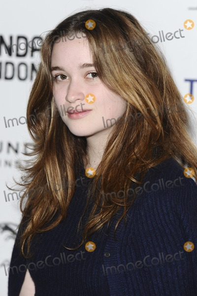 Alice Englert Photo - Alice Englert arriving for the In Fear screening as part of the Sundance London Festival 2013 at the O2 Greenwich London 27042013 Picture by Steve Vas  Featureflash