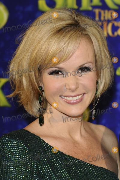 Amanda Holden Photo - Amanda Holden (plays Princess Fiona)arrives for the 1st night party of Shrek The Musical at Somerset House London 14062011  Picture by Steve Vas  Featureflash