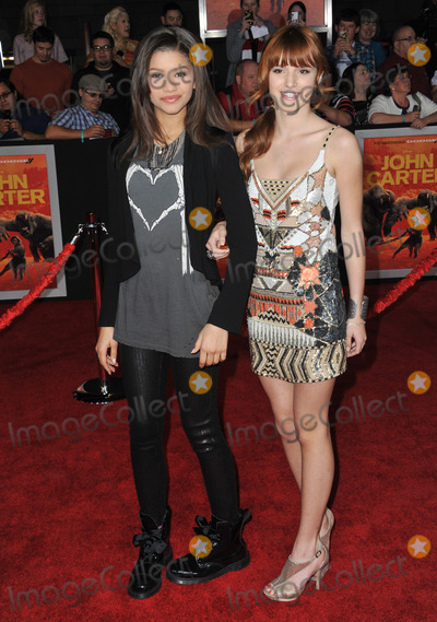 Bella Thorne Photo - Sandaya  Bella Thorne (right) at the world premiere of John Carter at the Regal Cinemas LA LiveFebruary 22 2012  Los Angeles CAPicture Paul Smith  Featureflash