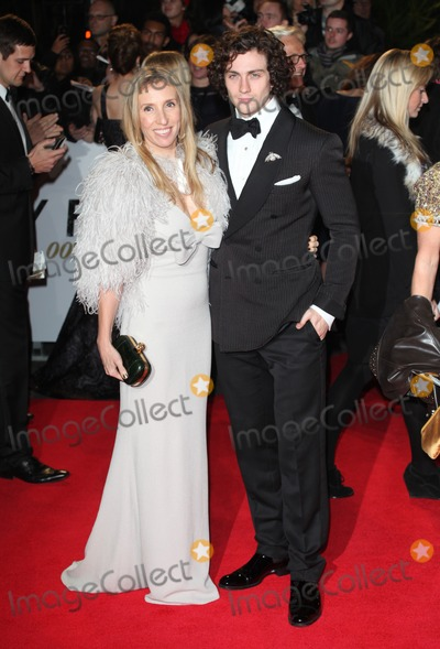 Sam Wood Photo - Aaron Johnson Sam Taylor-Wood arriving for the Royal World Premiere of Skyfall at Royal Albert Hall London 23102012 Picture by Alexandra Glen  Featureflash