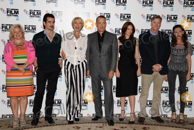 Alison Owen Photo - producer Alison Owen Colin Farrell Emma Thompson Tom Hanks Ruth Wilson director John Lee Hancock and writer Kelly Marcelat the photocall for Saving MrBanks which is part of the bfi London Film Festival 2013 London 21102013 Picture by Steve Vas  Featureflash