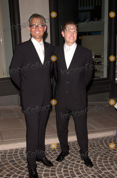 Badgley  Mischka Photo - Designers JAMES MISCHKA (left)  MARK BADGLEY at party on Rodeo Drive Beverly Hills for the opening of the new Badgley Mischka Boutique