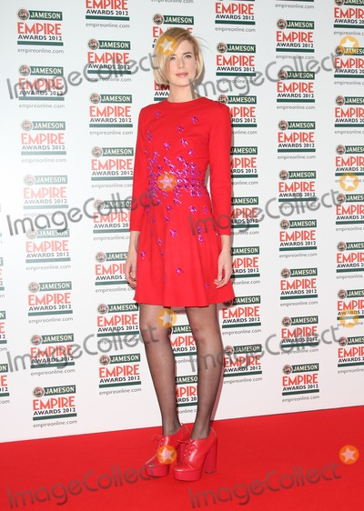 Agyness Deyn Photo - Agyness Deyn arriving for  the Empire Film Awards 2012 at the Grosvenor House Hotel London 25032012 Picture by Henry Harris  Featureflash