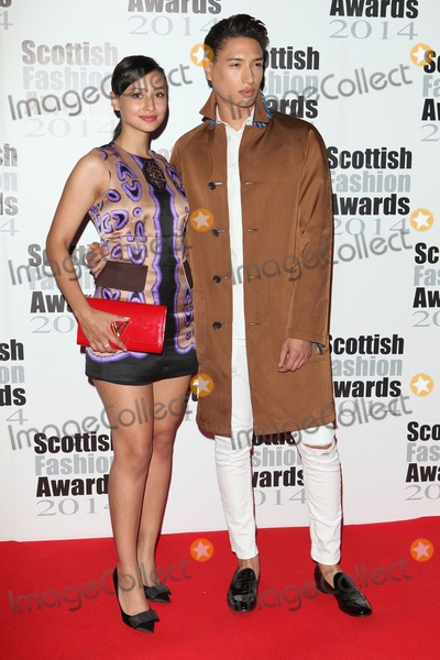 Nat Weller Photo - Leah and Nat Weller arriving for the Scottish Fashion Awards 2014 London 01092014 Picture by Alexandra Glen  Featureflash