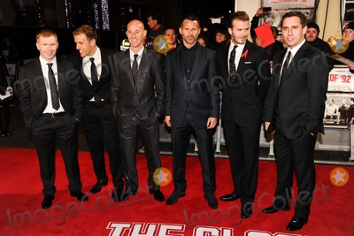 Nicky Butt Photo - Paul Scholes Phil Neville Nicky Butt Ryan Giggs David Beckham and Gary Neville arrives for the premiere of  The Class of 92 at the Odeon West End London 01122013 Picture by Steve Vas  Featureflash