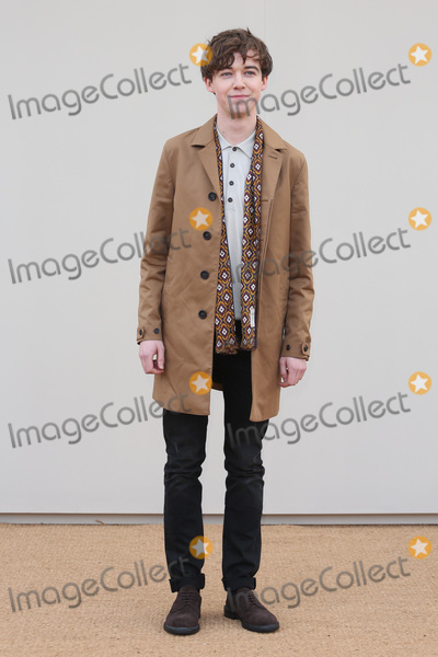 Alex Lawther Photo - Alex Lawther arriving at the Burberry Prorsum show during The London Collections Menswear AW 2016 at Kensington Gardens London January 11 2016  London UKPicture James Smith  Featureflash