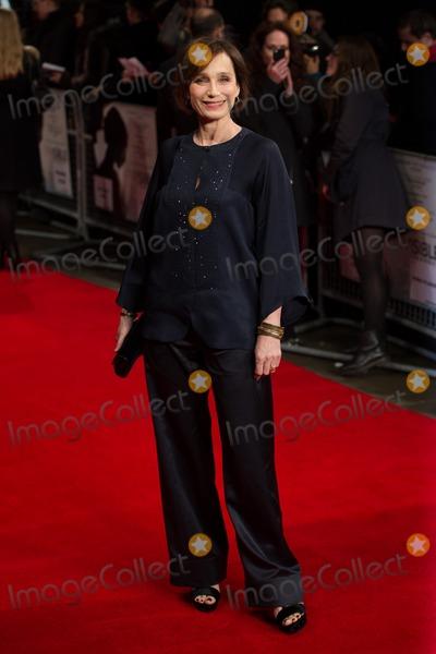 Kristin Scott Thomas Photo - Kristin Scott Thomas arriving for the UK Premiere of The Invisible Woman at the Odeon Cinema KensingtonLondon 27012014 Picture by Dave Norton  Featureflash