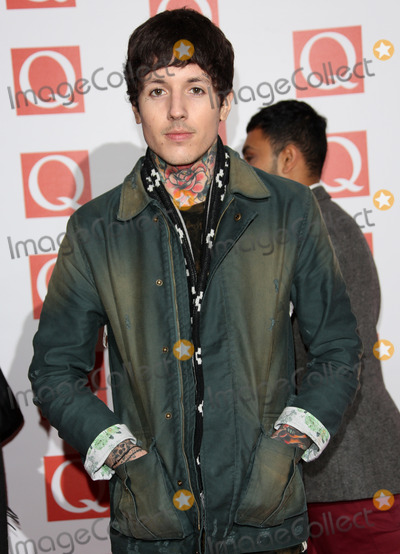 Oli Sykes Photo - Oli Sykes arriving for The Q Awards 2012 held at the Grosvenor Hotel London 22102012 Picture by Henry Harris  Featureflash