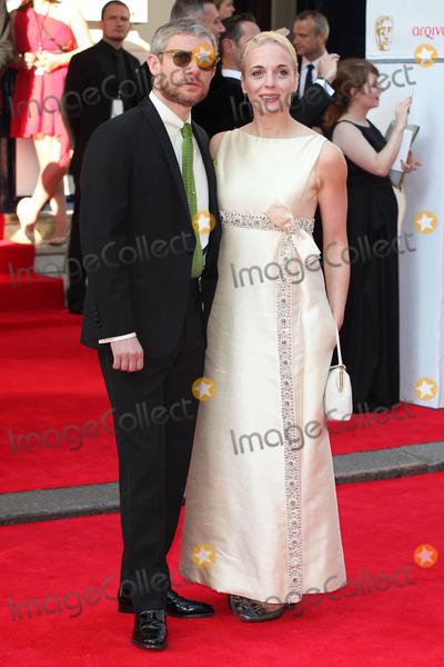 Amanda Abbington Photo - Martin Freeman and Amanda Abbington arriving for the Arqiva British Academy Television Awards (Bafta TV Awards) at Theatre Royal London 18052014 Picture by Alexandra Glen  Featureflash