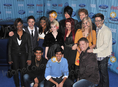 Allison Iraheta Photo - American Idol Final 13 stars Kris Allen Danny Gokey Alexis Grace Allison Iraheta Adam Lambert Scott MacIntyre Jorge Nunez Lil Rounds Michael Sarver Megan Corkrey Anoop Desai Matt Giraud  Jasmine Murray at the American Idol Final 13 Party at Area Nightclub West HollywoodMarch 5 2009  Los Angeles CAPicture Paul Smith  Featureflash