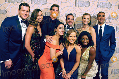Conor Dwyer Photo - BEVERLY HILLS CA - JANUARY 8  (L-R) Football player Colton Underwood guest swimmer Conor Dwyer gymnast Aly Raisman gymnast Danell Leyva gymnast Madison Kocian gymnast Simone Biles Brianne Theisen-Eaton and decathlete Ashton Eaton attend HBOs official golden globes awards after party at Circa 55 restaurant at the Beverly Hilton Hotel on January 8 2017 in Beverly Hills California  (Photo by Barry KingImageCollectcom)
