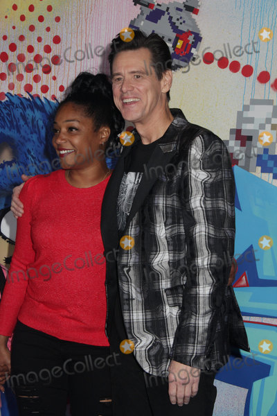 Tiffany Haddish Photo - Tiffany Haddish Jim Carrey 02122020 Sonic The Hedgehog Special Screening held at The Regency Village Theatre in Los Angeles CA Photo by Izumi Hasegawa  HollywoodNewsWireco