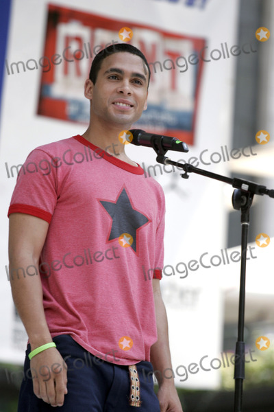 Wilson Jermaine Heredia Photo - Actor Wilson Jermaine Heredia from the movie Rent performing at Broadway For Life to benefit Broadway CaresEquity Fights AIDS in Bryant Park August 4 2005 in