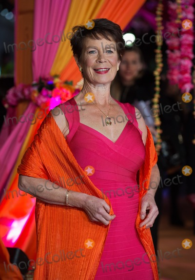 Celia Imrie Photo - London UK Celia Imrie at  The Royal Film Performance and World Premiere of The Second Best Exotic Marigold Hotel at Odeon Leicester Square on February 17 2015 in London Ref LMK12-50610-180215J AdamsLandmark MediaWWWLMKMEDIACOM