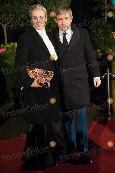Amanda Abbington Photo - London UK Martin Freeman and wife Amanda Abbington at the EE British Academy Film Awards - After Party Arrivals held at Grosvenor House 10th February 2013Justin NgLandmark Media