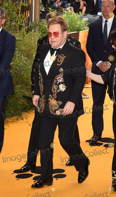 Sir Elton John Photo - London UK Sir Elton John at  the European Premiere of The Lion King held at Odeon Leicester Square London on Sunday 14 July 2019   Ref LMK392-J5174-150719Vivienne VincentLandmark Media WWWLMKMEDIACOM