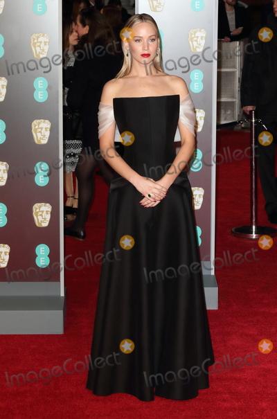 Jennifer Lawrence Photo - London UK Jennifer Lawrence at  EE British Academy Film Awards - Red Carpet Arrivals at the Royal Albert Hall London on Sunday February 18th 2018 Ref LMK73-J1591-190218Keith MayhewLandmark MediaWWWLMKMEDIACOM