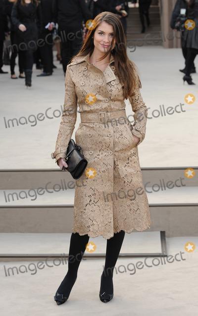 Alinne Moraes Photo - London UK Alinne Moraes at the Burberry Prorsum show during London Fashion Week FallWinter 201314 18th February 2013Landmark Media