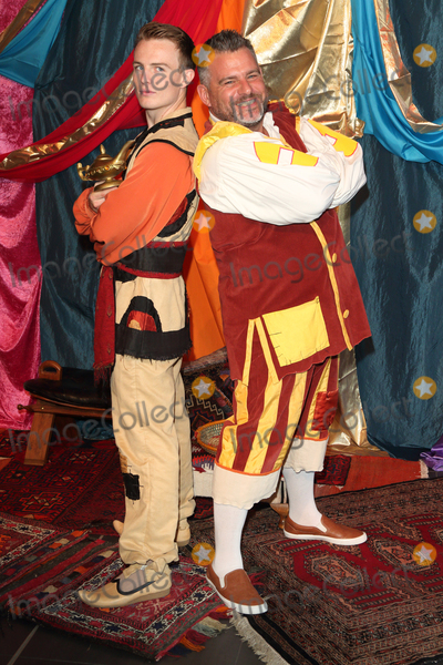 Andy Collins Photo - AylesburyBucks  Andy Collins and Danny Colligan at the Photocall for the upcoming pantomime Aladdin at the Waterside Theatre  9th September 2016Ref LMK73-61382-100916Keith MayhewLandmark Media WWWLMKMEDIACOM