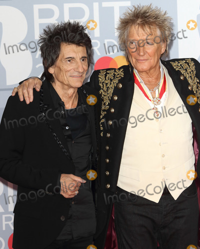 Ronnie Woods Photo - LondonUK  Ronnie Wood and Sir Rod Stewart      at 40th Brit Awards Red Carpet arrivals The O2 Arena London 19th February 2020 RefLMK73-S2890-190220Keith MayhewLandmark MediaWWWLMKMEDIACOM
