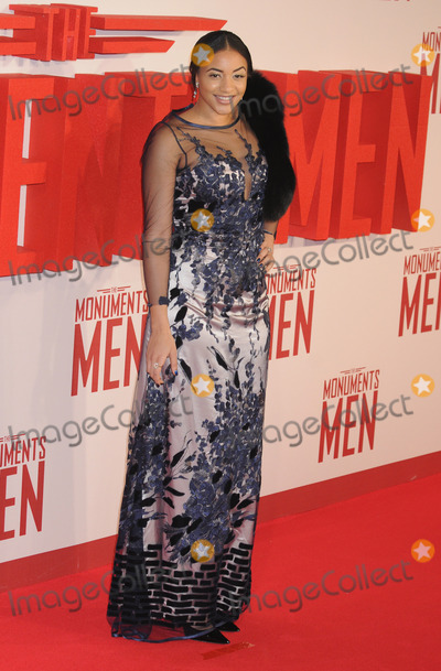 Amal Fashanu Photo - London UK   Amal Fashanu  at the UK Premiere of The Monuments Men held at the Odeon Leicester Square11 February 2014Ref LMK326-47339-130214Matt LewisLandmark MediaWWWLMKMEDIACOM