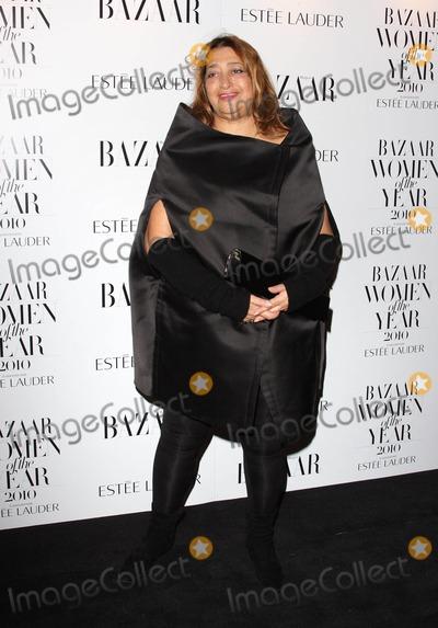 Zaha Hadid Photo - London UK Zaha Hadid at the Harpers Bazaar Women of the Year Awards at One Mayfair 1st November 2010Keith MayhewLandmark Media