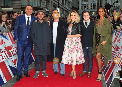 Amanda Holden Photo - London UK David Walliams Ant McPartlin Simon Cowell Amanda Holden Declan Donnelly and Alesha Dixon at  Britains Got Talent Judges Photocall on the Red Carpet at the London Palladium London on Sunday January 28th 2018Ref LMK73-J1469-290118Keith MayhewLandmark MediaWWWLMKMEDIACOM