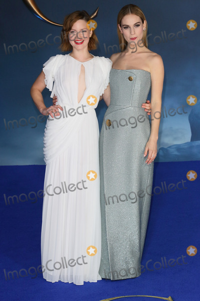 Cinderella Photo - London UK Holliday Grainger and Lily James at the UK Premiere of Cinderella at Odeon Leicester Square London on March 19th 2015Ref LMK73-50753-200315Keith MayhewLandmark Media WWWLMKMEDIACOM