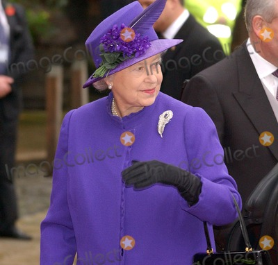 Her Majesty The Queen Photo - Chester Her Majesty The Queen at the wedding of Lady Tamara Grosvenor to banker Edward van Custem held at Chester Cathederal6 November 2004DREW DOWNLANDMARK MEDIA