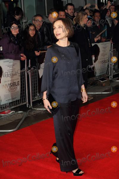 Kristin Scott Thomas Photo - London UK  270114Kristin Scott Thomas at the UK Premiere of The Invisible Woman  held at the Odeon Kensington27 January 2014Ref LMK73-46491-280814Keith MayhewLandmark MediaWWWLMKMEDIACOM
