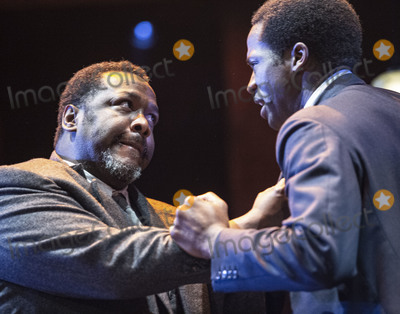 Wendel Pierce Photo - London UK   Wendell Pierce and Sope Dirisu  at the photo call for the Arthur Miller classic Death of a Salesman at the Piccadilly theatre West End London 1st November 2019 RefLMK386-S2535-011119 Gary MitchellLandmark Media WWWLMKMEDIACOM