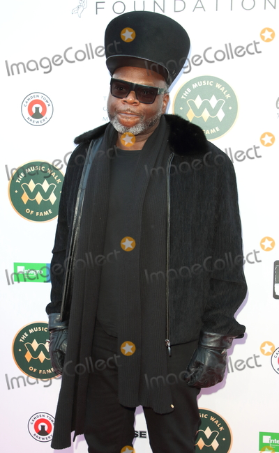 Jazzie B Photo - Jazzie BMusic Walk Of Fame Soul II Soul stone unveiling the fourth stone to be placed on Camden High Street London on March 6th 2020Photo by Keith Mayhew