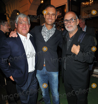 Alan Yentob Photo - London UK Sir Cameron Mackintosh Michael Le Poer Trench and Alan Yentob at the Young Frankenstein press night Garrick Theatre Charing Cross Road London England UK on Tuesday 10 October 2017Ref LMK315-J891-111017CAN NguyenLandmark MediaWWWLMKMEDIACOM