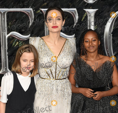 Angelina Jolie Photo - London UK Vivienne Jolie-Pitt Angelina Jolie Zahara Jolie-Pitt at Maleficent Mistress Of Evil European Premiere held at BFI Imax Waterloo on Wednesday  9 October 2019Ref LMK392 -J5592-101019Vivienne VincentLandmark Media WWWLMKMEDIACOM