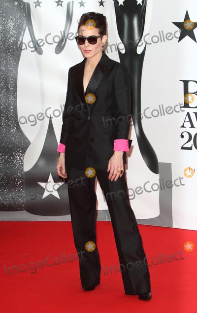 Noomi Rapace Photo - London UK Noomi Rapace at BRIT Awards 2016 Red Carpet Arrivals at the O2 Arena London on February 24th 2016Ref LMK73-60035-250216Keith MayhewLandmark Media WWWLMKMEDIACOM
