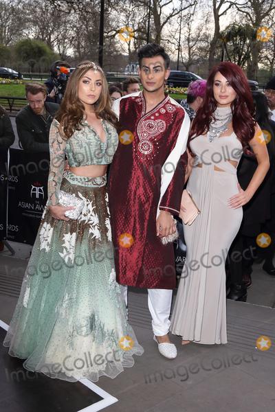 Abi Clarke Photo - London UK Abi Clarke Junaid Ahmed and Jessica Hayes at the Asian Awards 2016 Grosvenor House Hotel Park Lane 8th April 2016 Ref LMK73-60215-090416Keith MayhewLandmark Media WWWLMKMEDIACOM